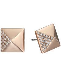 Michael Kors | Pink Pyramid Pave Stud | Lyst