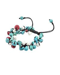 Aeravida | Blue Infinite Clusters Turquoise-coral Stone Cotton Rope Bracelet | Lyst