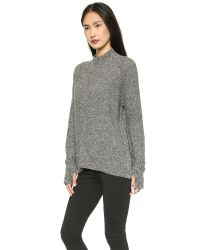 M.i.h Jeans - The Polo Neck Sweater Black Twist - Lyst
