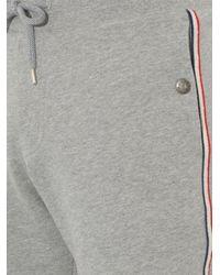 Moncler - Gray Side-Stripe Jersey Track Shorts for Men - Lyst