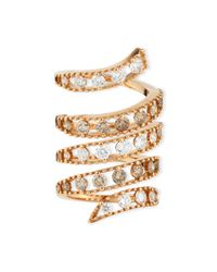 Staurino Fratelli | Metallic 18k Rose Gold Coiled Diamond Flex Ring | Lyst