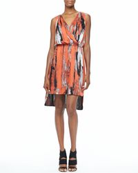 Robert Rodriguez | Red Brushstrokeprint Dress | Lyst