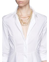 Venessa Arizaga - Metallic 'blinded By The Light' Necklace - Lyst