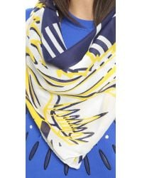 KENZO - Blue 4 Tigers Scarf - Navy - Lyst