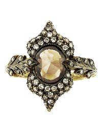 Cathy Waterman - Metallic Double Leaf Ring - Lyst