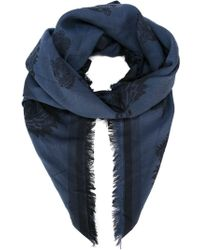 KENZO | Blue 'tiger' Scarf for Men | Lyst