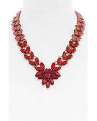 BaubleBar | Red 'marbled Garland Brooch' Collar Necklace | Lyst