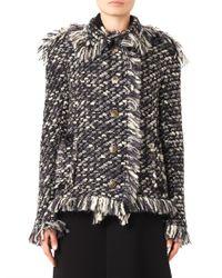 Lanvin - Gray Textured-tweed Jacket - Lyst