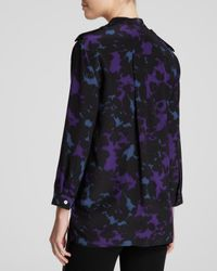 Burberry - Multicolor London Blouse Silk Print - Lyst