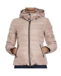 Armani Jeans | Natural Down Jacket Hooded And Piping Lurex | Lyst