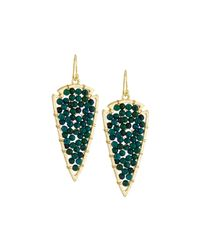 Panacea | Blue Beaded Arrowhead Drop Earrings | Lyst