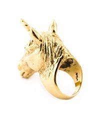 Leivan Kash - Metallic 'Unicorn' Ring - Lyst