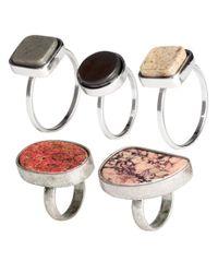 H&M | Metallic 5-pack Rings | Lyst