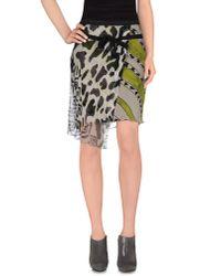 Pianurastudio - Gray Knee Length Skirt - Lyst