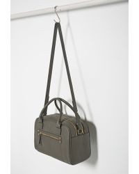Forever 21 - Gray Faux Leather Satchel - Lyst