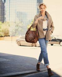 Kooba | Brown Valerie Flapfront Shoulder Bag Luggage | Lyst