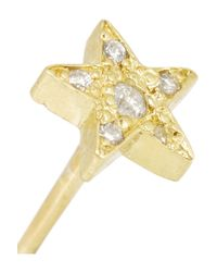 Jennifer Meyer - Metallic 18-Karat Gold Diamond Star Earrings - Lyst