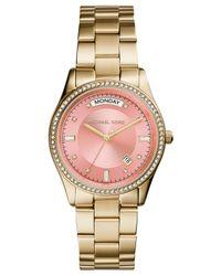 Michael Kors - Metallic Women'S Colette Gold-Tone Stainless Steel Bracelet Watch 34Mm Mk6143 - Lyst