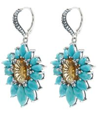 Stephen Dweck - Blue Silver Citrine And Turquoise Metropolis Earrings - Lyst