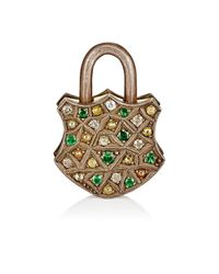 Sevan Biçakci | Metallic Mixed-diamond Padlock | Lyst
