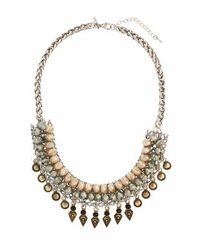 TOPSHOP - Green Facet Statement Collar - Lyst