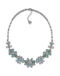 Carolee | Metallic Lux Cotton Candy Flower Pendant Collar Necklace | Lyst