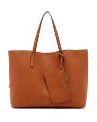 Splendid - Brown Key Largo Faux Leather Tote - Lyst