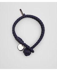 Bottega Veneta Blue Bracelet In Atlantic Intrecciato Nappa