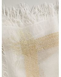 Faliero Sarti - Natural Metallic Stripe Scarf - Lyst