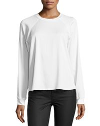 Nicole Miller - White Randy Long-sleeve Top - Lyst
