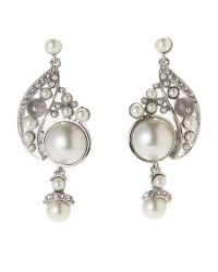 Givenchy - Metallic Silver-Tone Faux Pearl Accented Earrings - Lyst