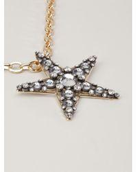 Lanvin - Metallic 'altair' Necklace - Lyst