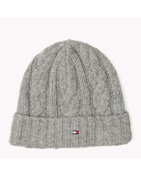 Tommy Hilfiger | Metallic Wool Blend Beanie for Men | Lyst