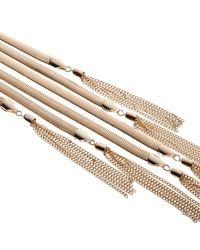 River Island | Metallic Gold Tone Draped Tassel Lariat Necklace | Lyst
