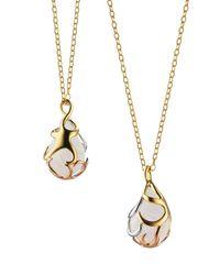 Monica Rich Kosann - Metallic Triumph Starfish Rock Crystal Charm Necklace - Lyst