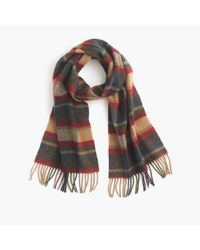 J.Crew | Gray English Lambswool Scarf for Men | Lyst