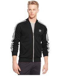 Adidas | Black Full-zip Track Jacket for Men | Lyst