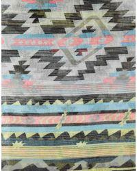 ASOS - Multicolor Aztec Scarf - Lyst