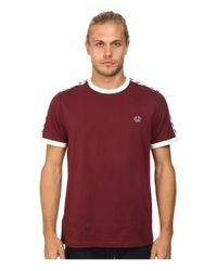 Fred Perry - Red Taped Ringer T-shirt for Men - Lyst