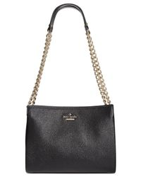 kate spade new york | Black Emerson Place Smooth Mini Convertible Phoebe Shoulder Bag | Lyst