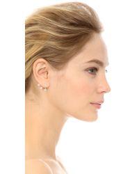 Ca&Lou - Metallic Pixie Maxi Earrings - Yellow Gold/crystal - Lyst