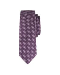 J.Crew - Purple Italian Silk Tie In Mini-diamond for Men - Lyst