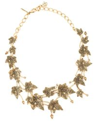 Oscar de la Renta | Metallic Ivy Leaves Necklace | Lyst