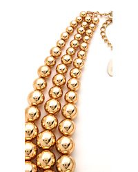 Adia Kibur - Metallic Layered Ball Necklace - Lyst