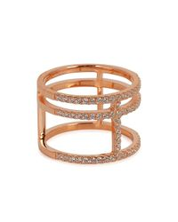 Apm Monaco | Brown Rose Gold-plated Ring | Lyst