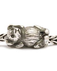 Trollbeads - Metallic Hugging Bear Silver Charm Bead - Lyst