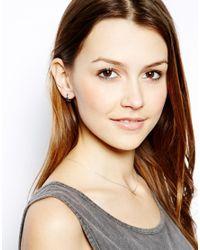 Maria Francesca Pepe - Black Encrusted Silver Hoop Earrings - Lyst