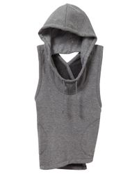 Alternative Apparel - Gray Exhale Hoodie - Lyst