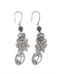 Jade Jagger - Blue Diamond Aquamarine Gold Earrings - Lyst