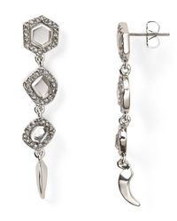 Rebecca Minkoff | Metallic Three Mirror Earrings | Lyst